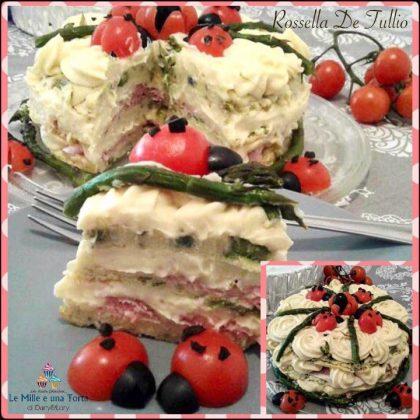 cake di frittata agli asparagi
