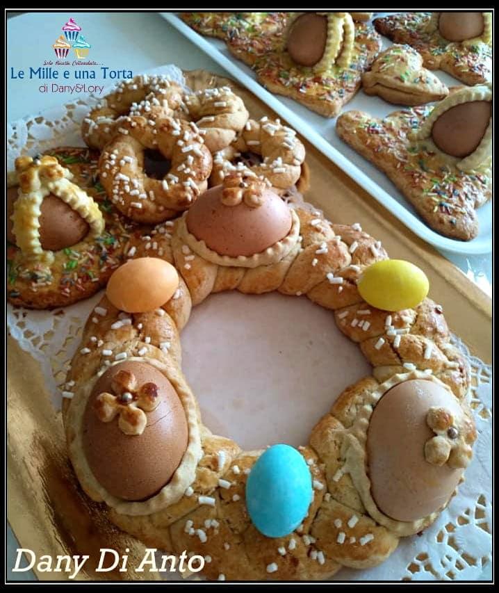 Biscotti Di Pasqua Decorati Con Uova E Zuccherini 2