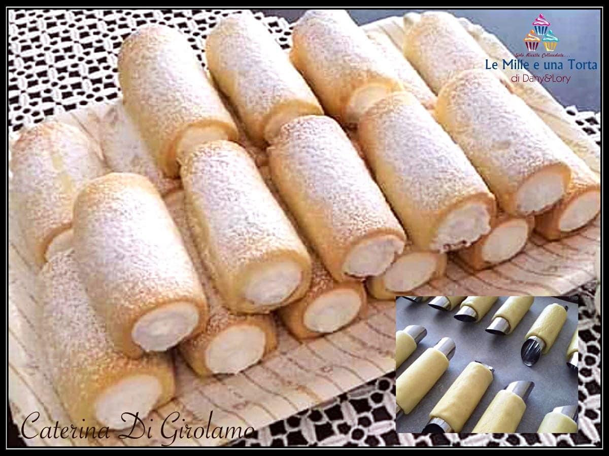 Cannoli Di Pasta Frolla Ripieni Di Crema Di Ricotta E Panna Montata 2
