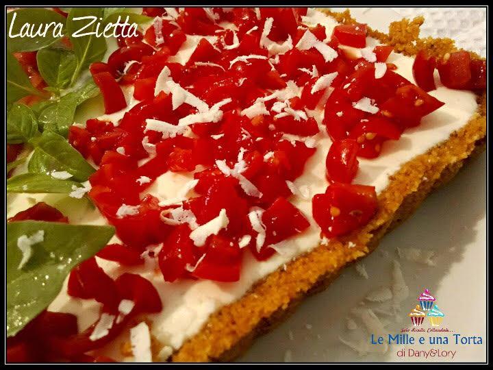 Caprese Cheesecake Ottima Torta Salata Fredda E Senza Cottura 2