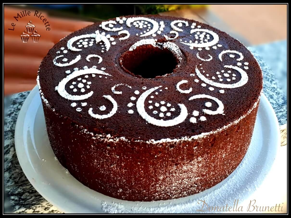 Chiffon cake al cacao,Chiffon cake cacao,Ciambellone americano al cioccolato,Chiffon cake al cioccolato