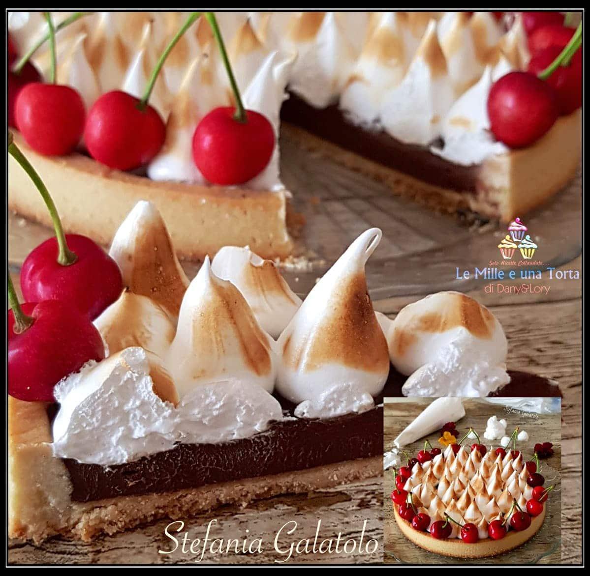 Crostata Al Cioccolato Con Meringa Allitaliana E Ciliegie 2