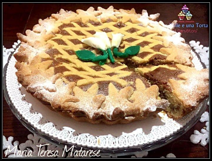 Crostata Golosa Ripiena Con Crema Di Ricotta Ai Cioccolatini 2
