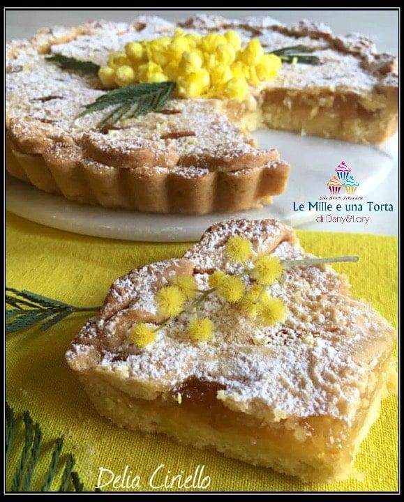 Crostata Mimosa Con Confettura Allananas Fetta 2