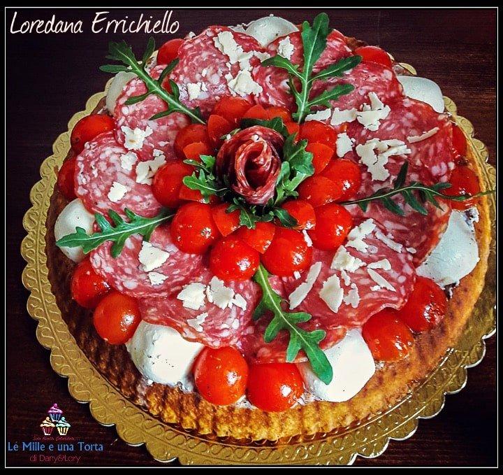 Crostata Salata Farcita Con Salame Pomodorini E Formaggio Cremoso 2