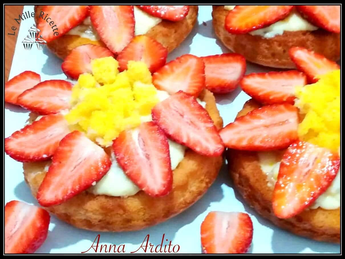 torta mimosa alle fragole,torta mimosa con fragole,Fragole,Ananas,Crostatine morbide mimosa