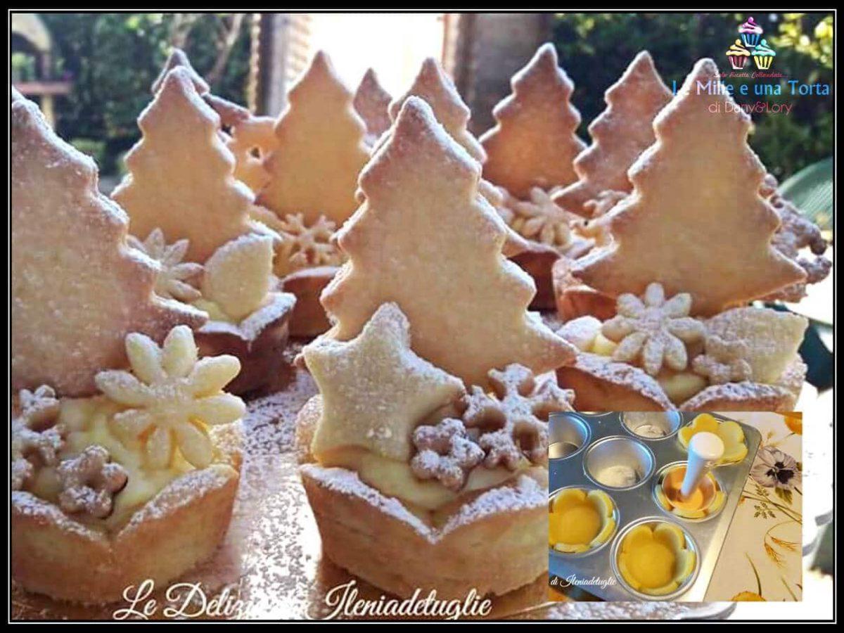 Dolci Di Natale Cestini Di Pasta Frolla Con Crema Pasticcera