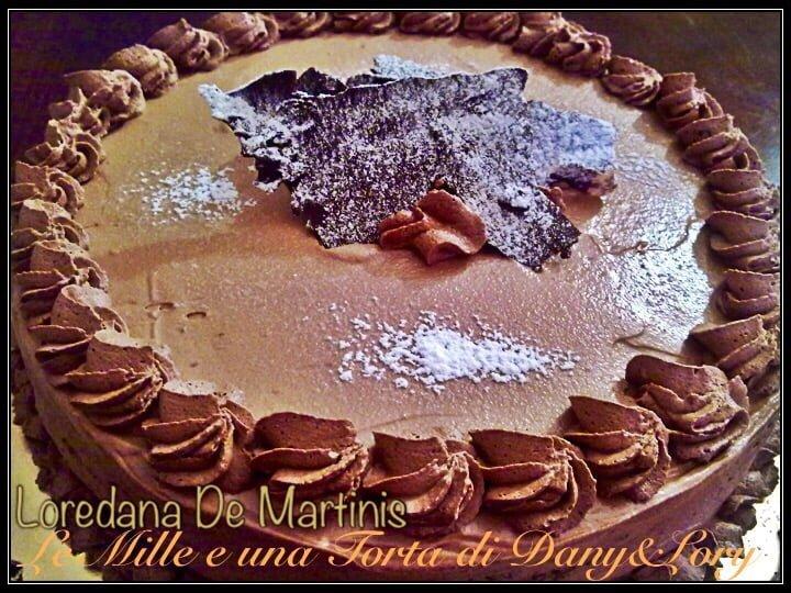 TORTA CIOCCO-CAFFÈ, FARCITA CON MASCARPONE E NUTELLA