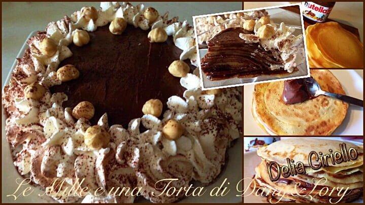 TORTA DI CRÊPES ALLA NUTELLA E PANNA MONTATA
