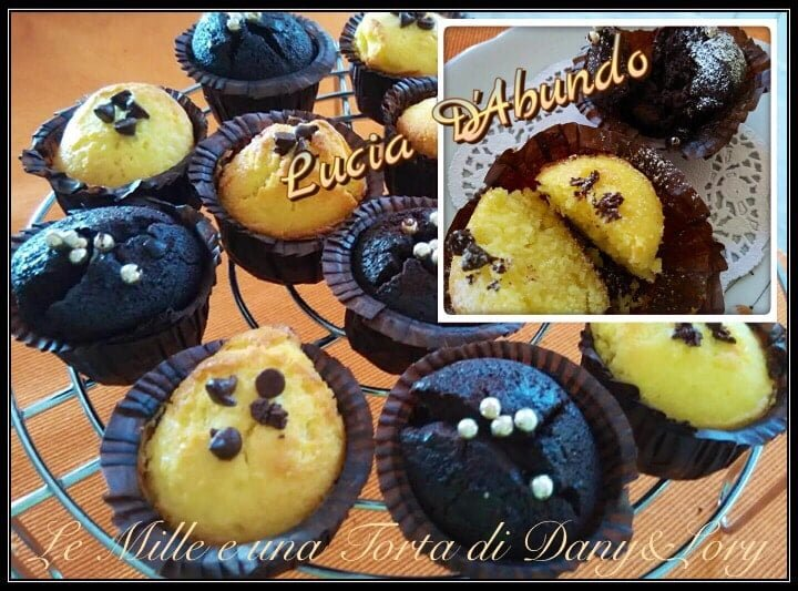 MINI MUFFIN BLACK AND WHITE (PANNA E CIOCCOLATO)