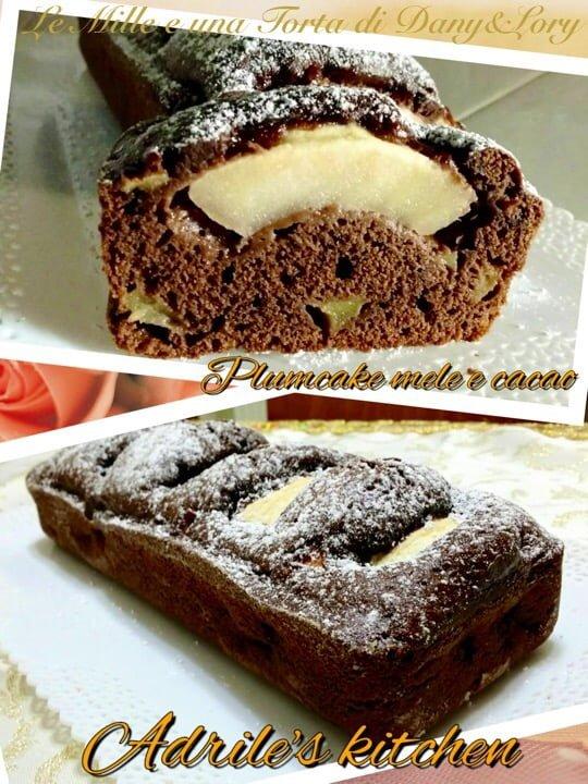 Plumcake mele e cacao