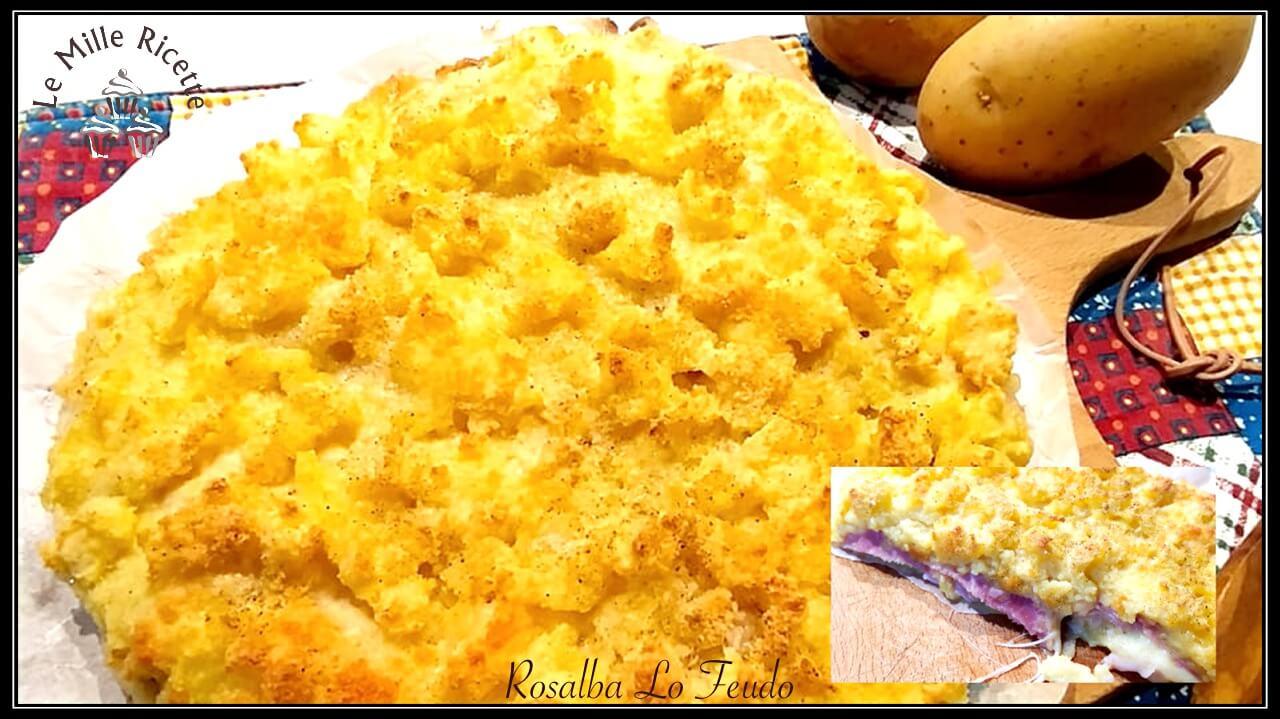 Sbriciolata di patate,sbriciolata di patate salsiccia e provola