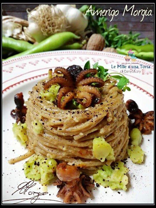 Spaghetti Integrali Con Fave E Moscardini 2