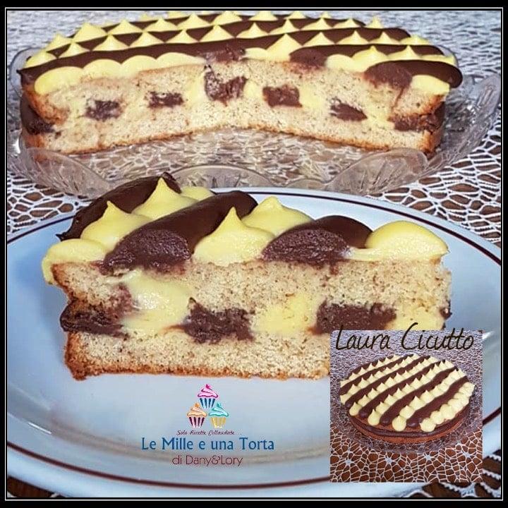 Torta Al Cioccolato E Crema Pasticcera Ricetta Facile 2