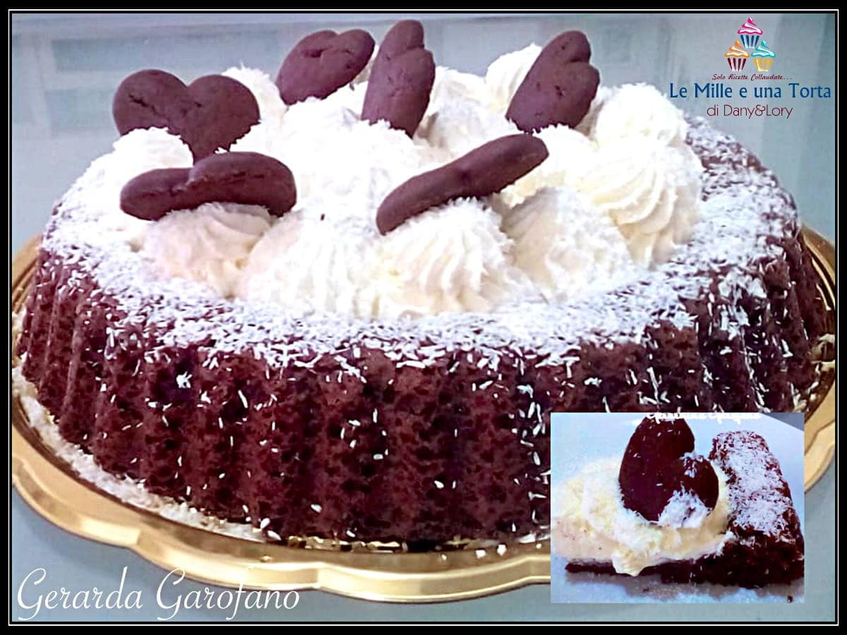 Torta Al Cioccolato Ripiena Di Crema Al Cocco E Ricotta 2