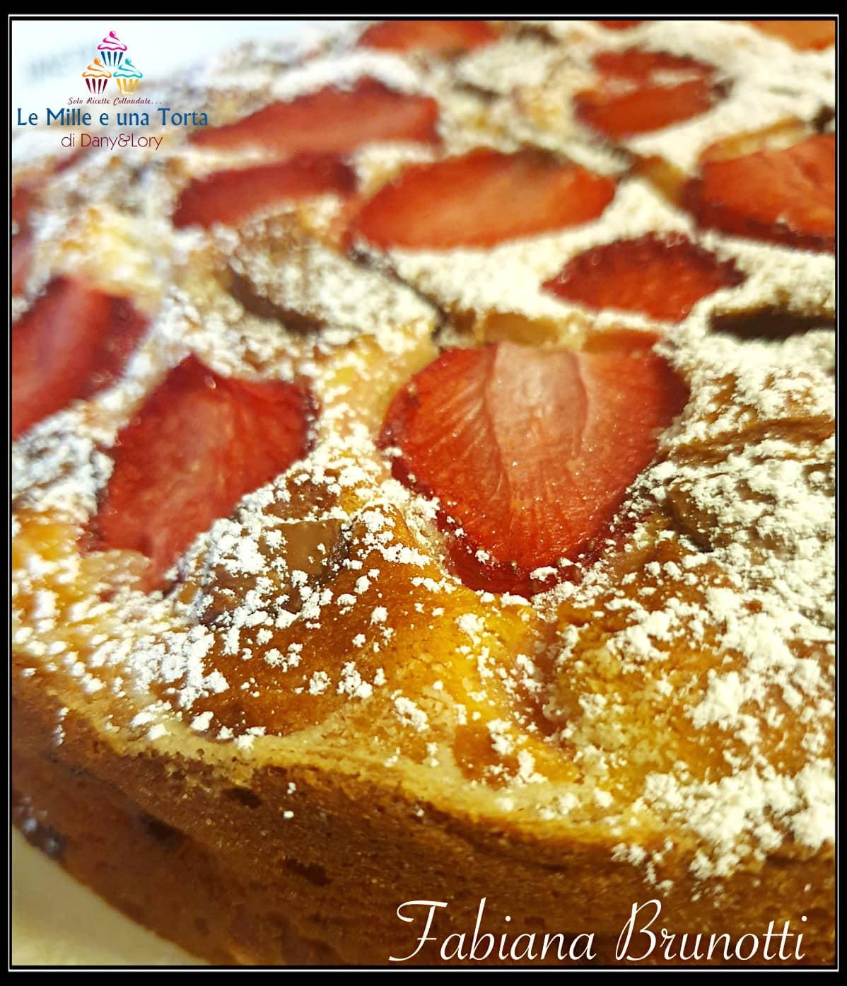 Torta Alle Fragole Con Ricotta Nellimpasto E Scaglie Di Cioccolato 2