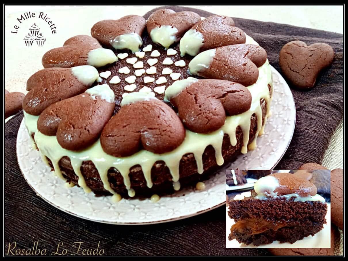 Ricetta torta batticuore,Torta biscotti batticuore,Torta batticuore