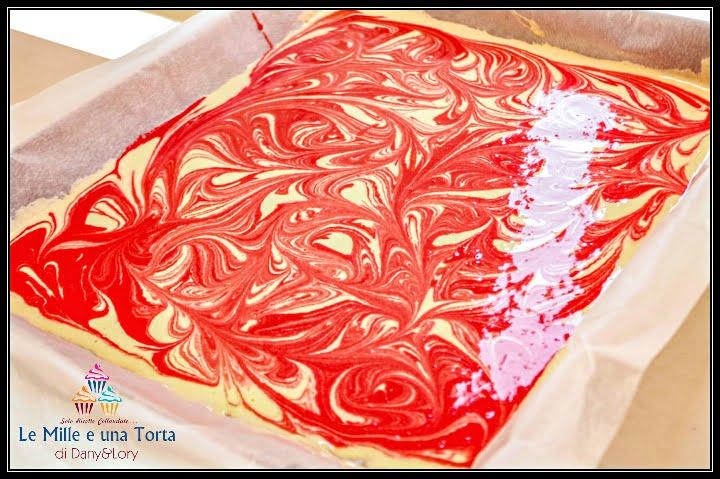 Torta Cioccolato E Lamponi Con Pasta Biscotto Variegata Preparazione 1