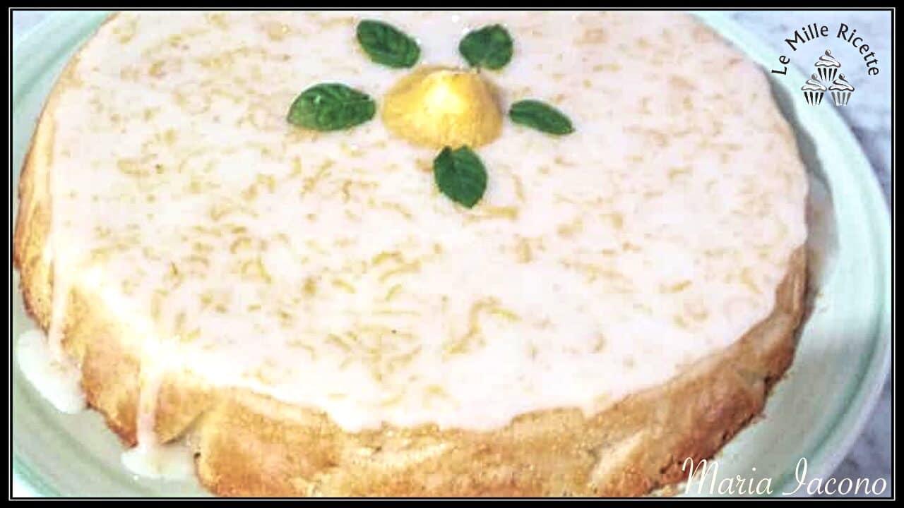 Torta Cocco E Limone Glassata E Morbidissima, Da Acquolina In Bocca