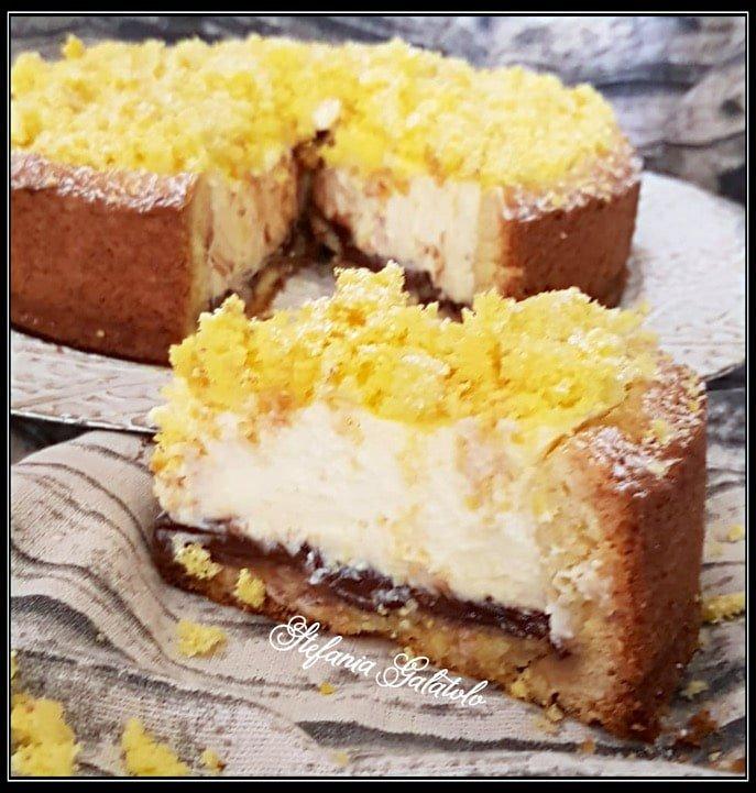 Torta Golosa Ricotta E Nutella Con Un Ripieno Cremosissimo 2