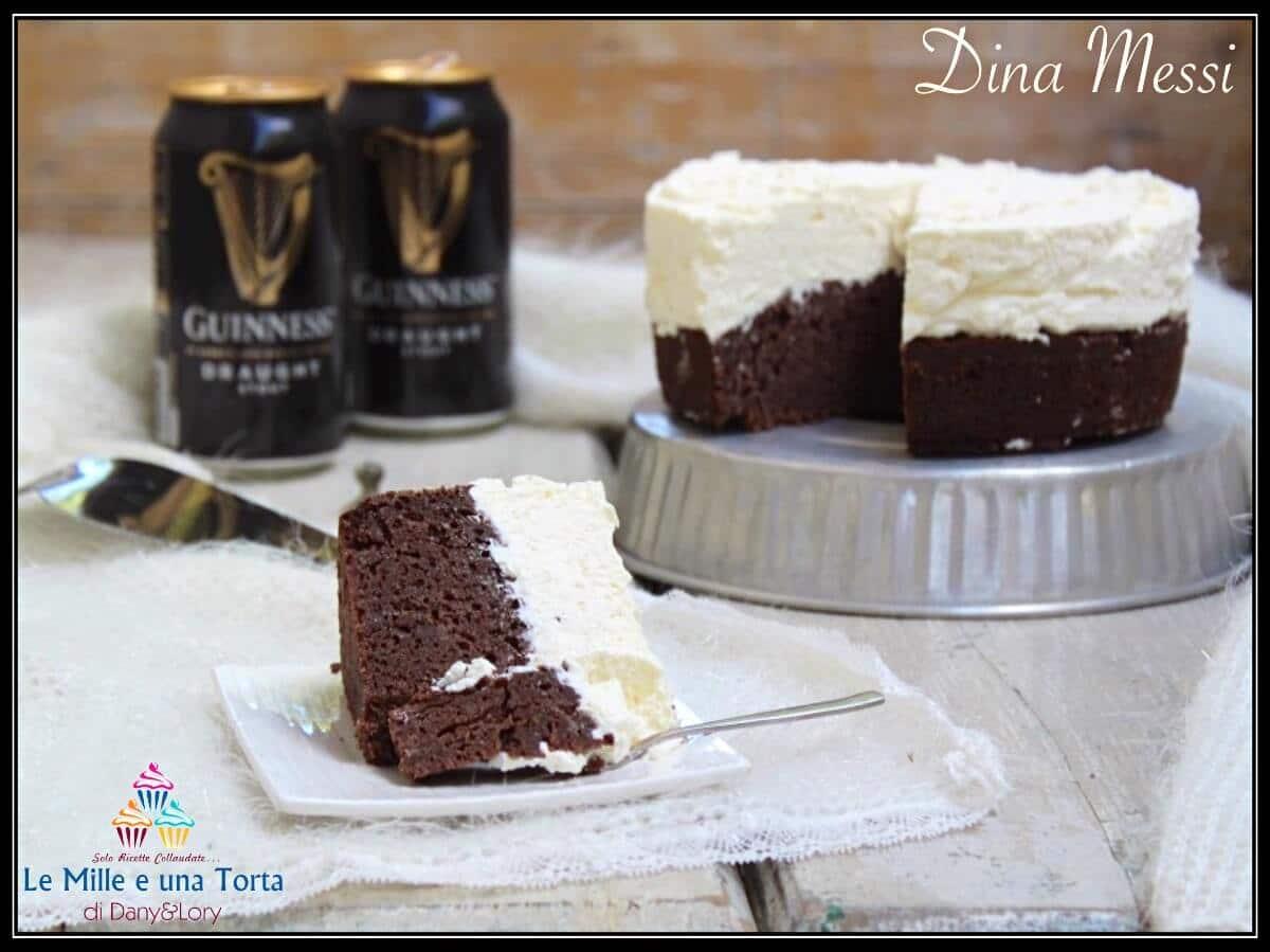 TORTA GUINNESS - il dolce alla birra con CREMA al MASCARPONE e PANNA