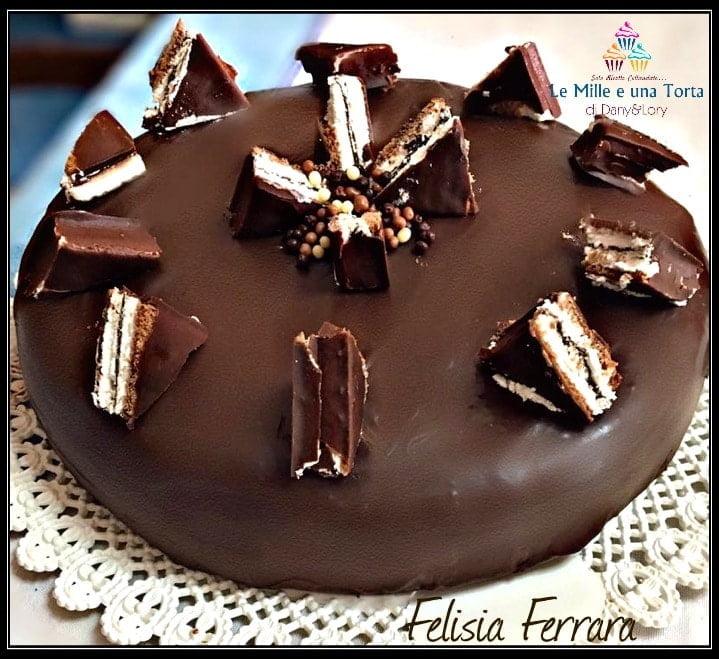Torta Kinder Pingui Con Crema Di Latte Nutella E Cioccolato Fondente 2