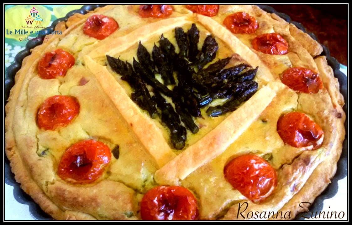 Torta Salata Con Asparagi E Pasta Frolla Al Parmigiano 2