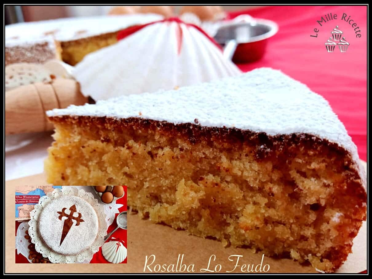 Torta de Santiago,torta santiago,torta in spagnolo,torta spagnola,Torta di Santiago