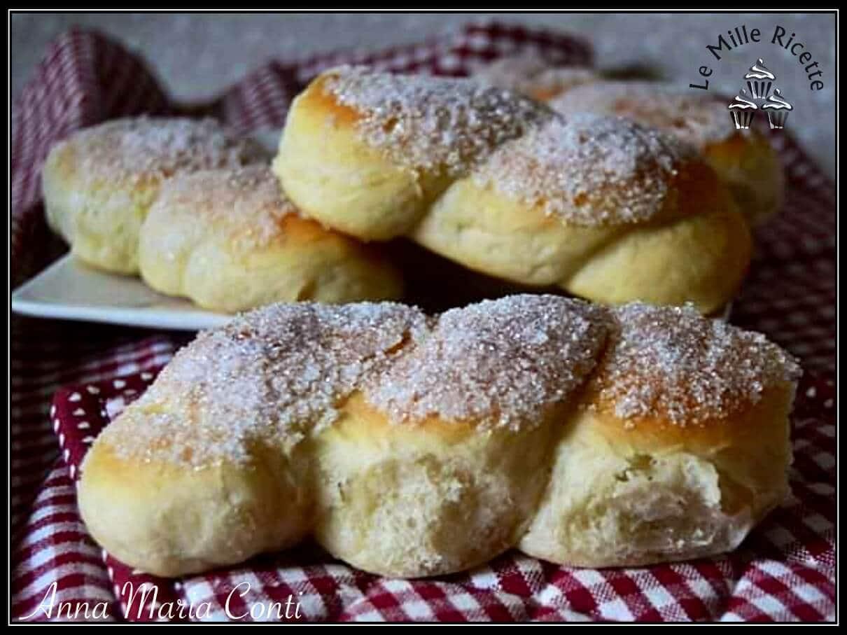 Treccine con lo zucchero siciliane,Treccine con lo zucchero