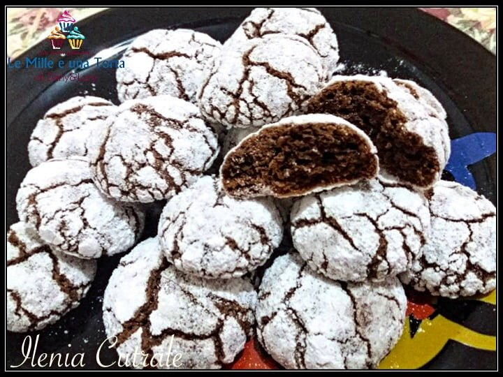 CHOCOLATE CRINKLES COOKIES DAL CUORE MORBIDO