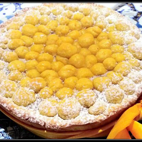 crostata del curioso versione mimosa per la festa della donna