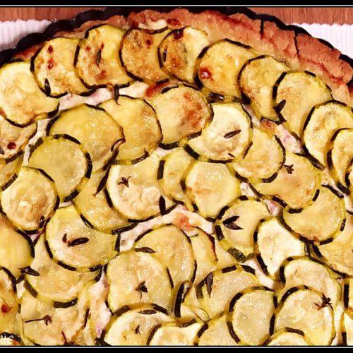 crostata di zucchine e scamorza alla contadina