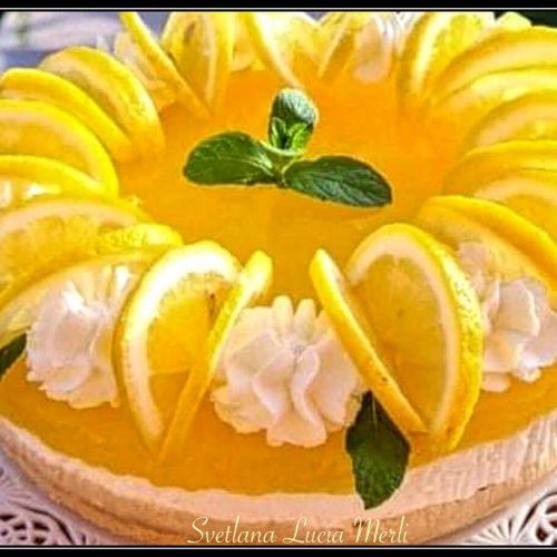 cheesecake al limone facilissima e senza colla di pesce
